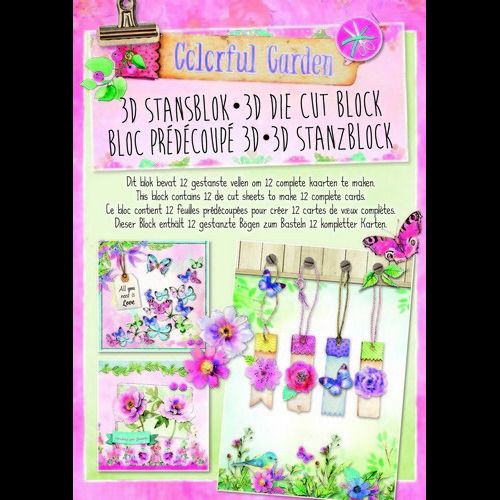 Studio Light Die cut blocs A4 12 vel Colorful Garden 31 STANSBLOKSL31
