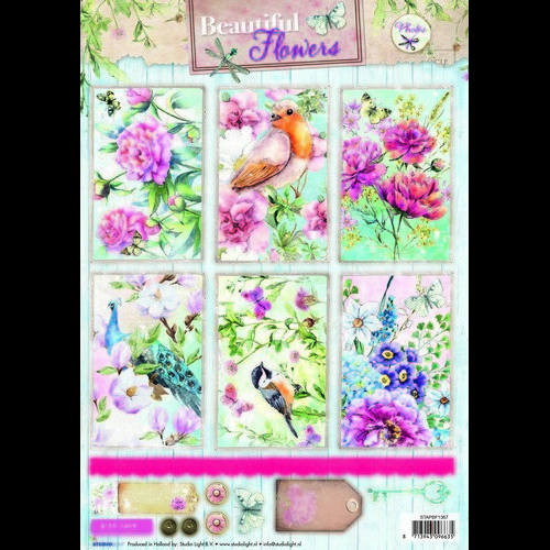Studio Light Knipvellen vel A4 Beautiful Flowers 1367 STAPBF1367 (new 05-16)