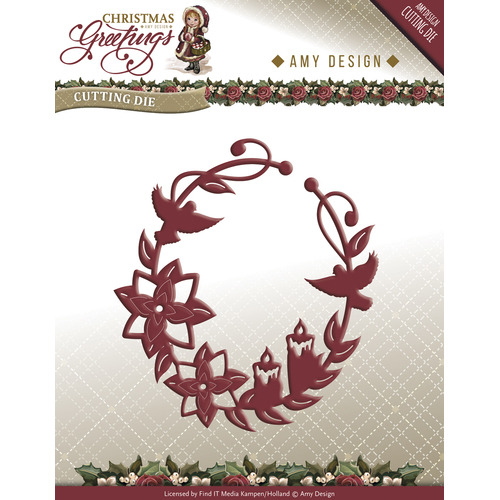 Die - Amy Design - Christmas Greetings - Christmas Greetings Ornament