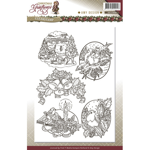 Clearstamp - Amy Design - Christmas Greetings