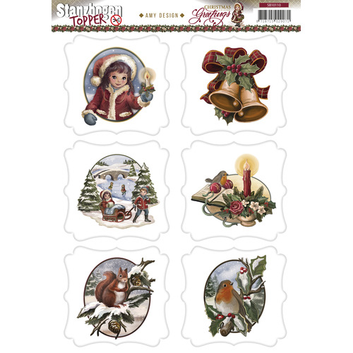 Topper - Amy Design - Christmas Greetings