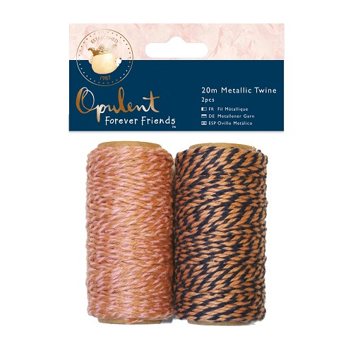 Metallic Twine  20m (2pcs) - Forever Friends - Opulent