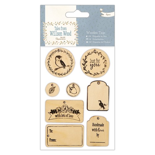 Wooden Tags (8pcs) - Tales from Willson Wood