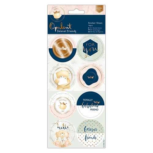 Sticker Sheet (16pcs) - Forever Friends - Opulent