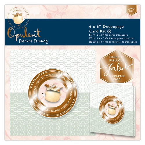 6 x 6`` Decoupage Card Kit - Forever Friends - Opulent