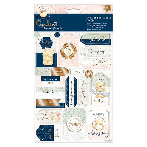 Die-cut Sentiments Foiled (2pk) - Forever Friends - Opulent