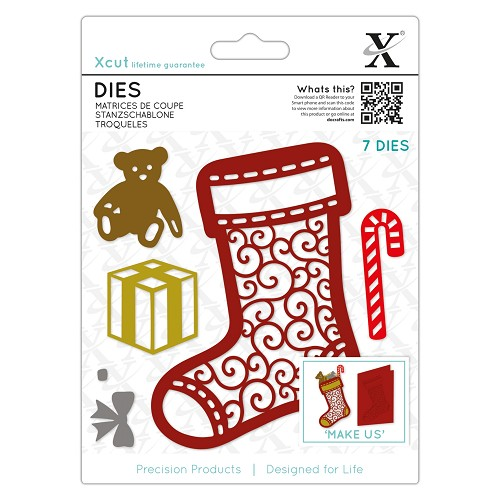 Dies (7pcs) - Filigree Chritsmas Stocking