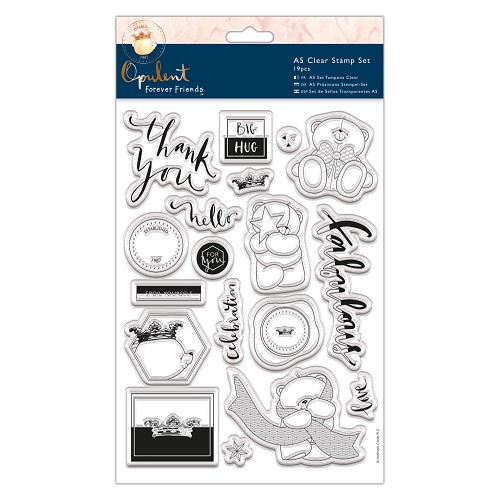 A5 Clear Stamp Set (19pcs) - Forever Friends - Opulent