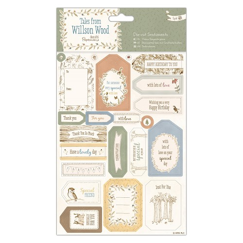 Die-cut Sentiments (2pk) - Tales from Willson Wood