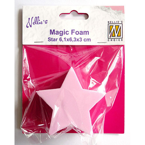 Magic Foam star shape 6,1x6,3x3cm