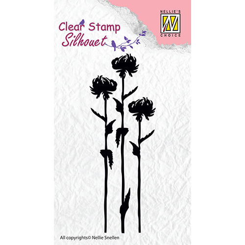 Silhouette clear stamps - Flower-7