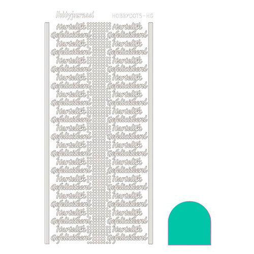 Hobbydots sticker - Mirror Emerald