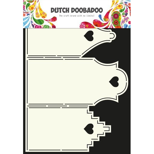 Dutch Doobadoo Dutch Card Art Stencil Huisjes  A4 470.713.311 (07-16)