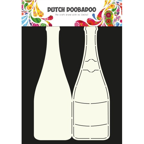 Dutch Doobadoo Dutch Card Art Stencil Champagnefles  A4 470.713.602 (07-16)
