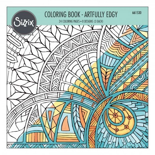 Sizzix Colouring Book - Artfully Edgy 661530 Jen Long (06-16)