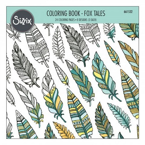 Sizzix Colouring Book - Fox Tales 661532 Jen Long (06-16)