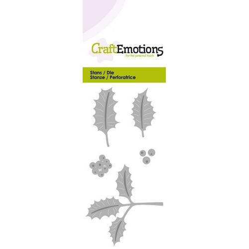 CraftEmotions Die - hulstbladeren Card 5x10cm (07-16)