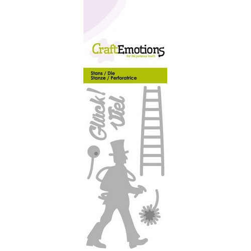 CraftEmotions Die - Viel Glück! (DE) Card 5x10cm (09-16)
