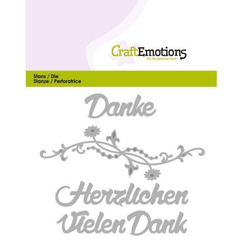 CraftEmotions Die Text - Vielen Dank (DE) Card 11x9cm (09-16)