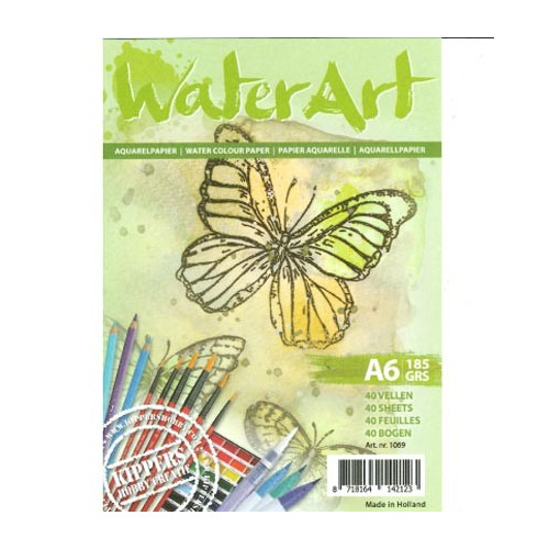 1069 - WaterArt - Papier 40 sheets / A6 / 185 grs