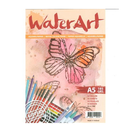 1068 - WaterArt - Papier 30 sheets / A5 / 185 grs