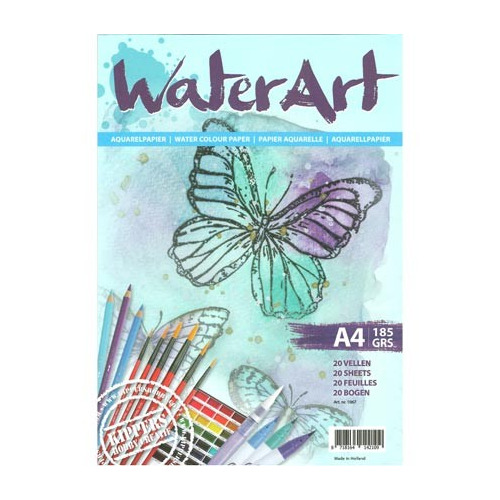 1067 - WaterArt - Papier 20 sheets / A4/ 185 grs