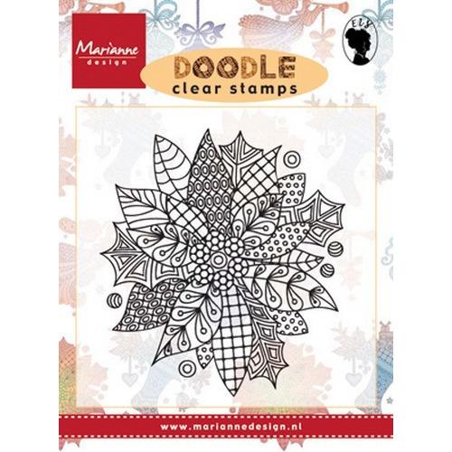 Marianne D Stempel Doodle - Poinsettia EWS2222 (08-16)