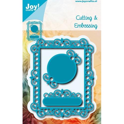 6002/0579 - Cutting & Embossing - Rechthoekig frame met rondjes