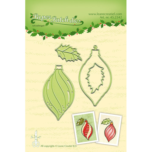 Lea'bilitie® Paper Patch Christmas ornament snij en embossing mal