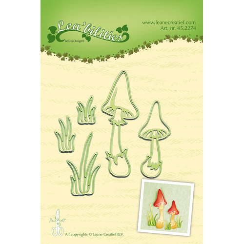 Lea'bilitie® Mushrooms snij en embossing mal