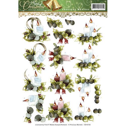 3D Knipvel - Precious Marieke - Spirit of Christmas - Kerstlandschap