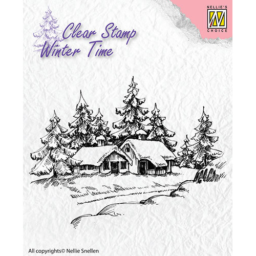 Clear Stamps - Winter Time - Wintery house