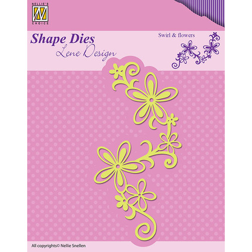 Shape Dies - Lene Design - Nellie Swirl & flowers