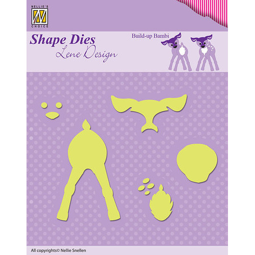 Shape Dies - Lene Design - Build-up die Bambi