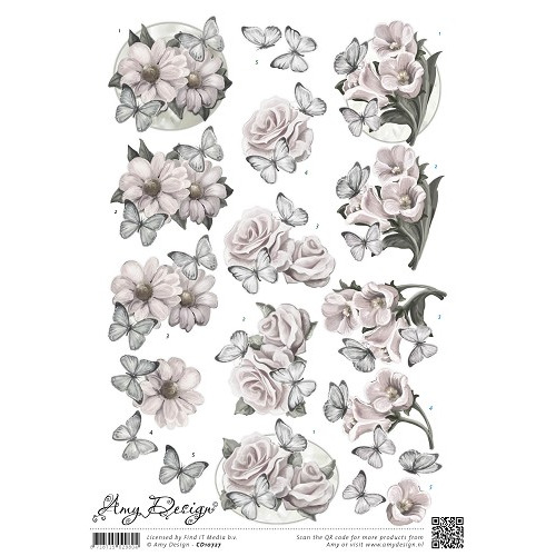3D Knipvel - Amy Design - Condoleance bloemen