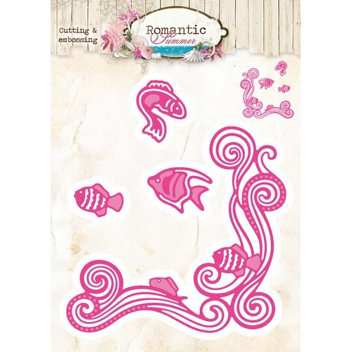 Studio Light Embossing Die Cut Stencil Romantic Summer nr 09 STENCILRS09 (07-16)