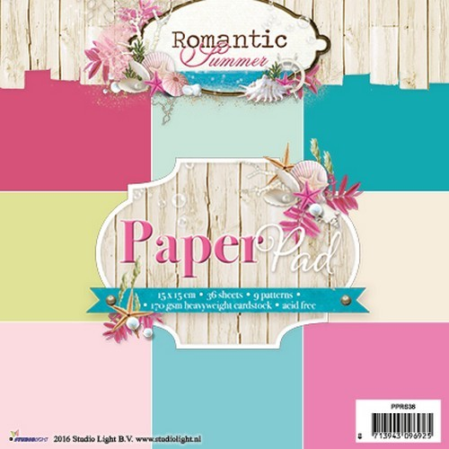Studio Light Paper pad 36 vel 12 designs Romantic Summer nr 36 PPRS36 15x15cm (07-16)