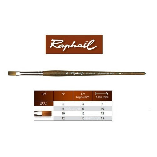 Raphaël Precision Aquarelverf penseel plat 6 8534.6