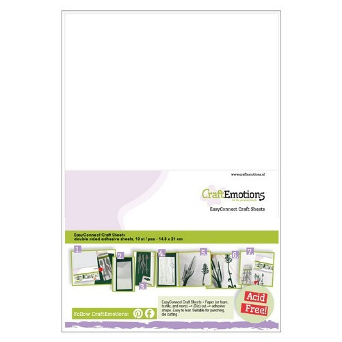 CraftEmotions EasyConnect (dubbelzijdig klevend) Craft sheets A5 - 10 sheets