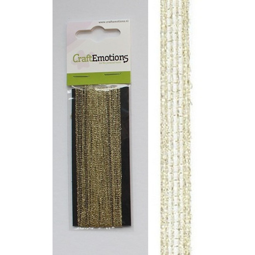 CraftEmotions lint pride goud 2,5m x 6mm