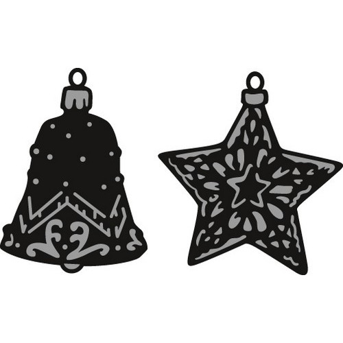 Marianne D Craftable Tiny`s ornaments star & bell CR1382 (09-16)