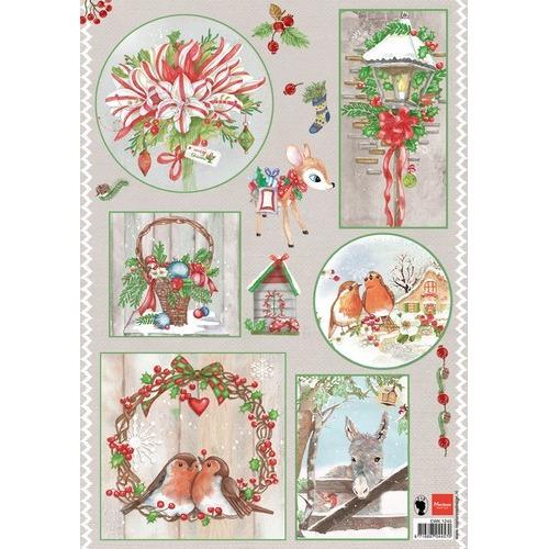 Marianne D 3D Knipvellen Country Christmas 1 EWK1245 (09-16)