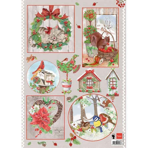 Marianne D 3D Knipvellen Country Christmas 2 EWK1246 (09-16)