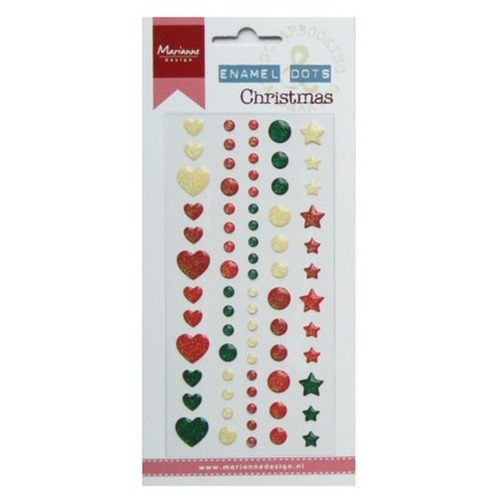 Marianne D Decoration Enamel dots - Christmas PL4509 (09-16)