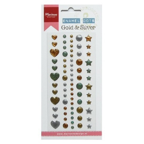 Marianne D Decoration Enamel dots - Gold & silver PL4510 (09-16)