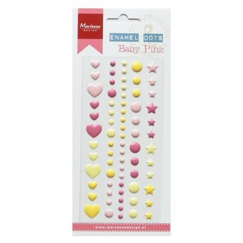 Marianne D Decoration Enamel dots - Baby pink PL4512 (09-16)