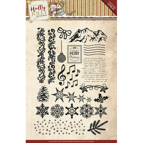 Clearstamp - Yvonne Creations - Holly Jolly