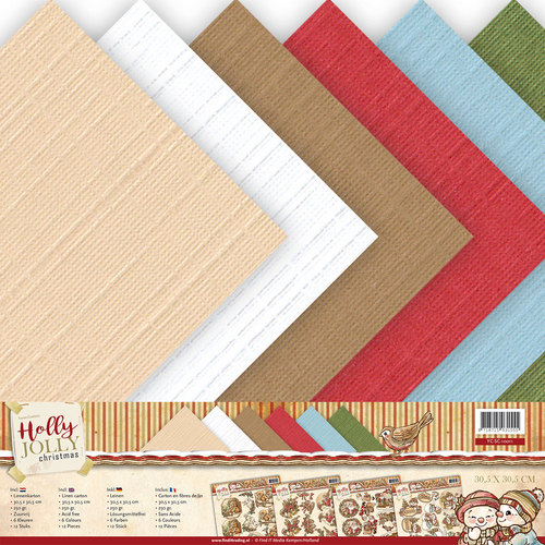 Linnenpakket - Scrap - Yvonne Creations - Holly Jolly