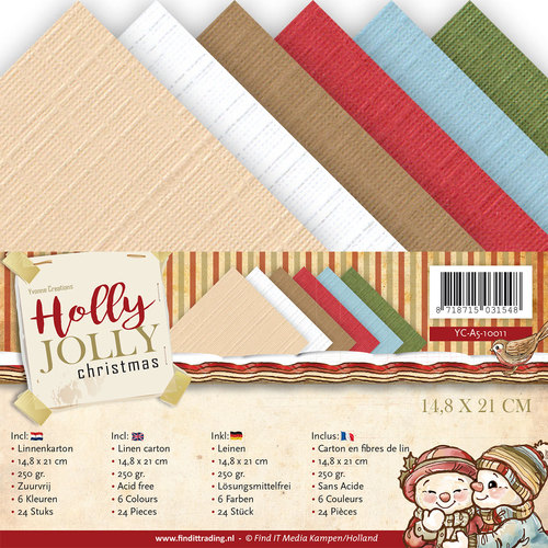 Linnenpakket - A5 - Yvonne Creations - Holly Jolly