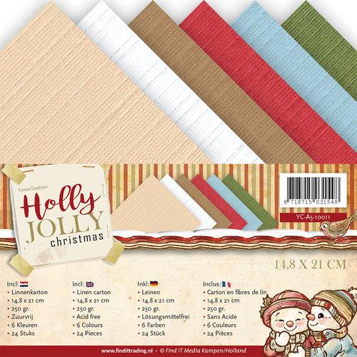 Linnenpakket - A5 - Yvonne Creations - Holly Jolly